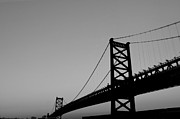 Benjamin Franklin Prints - Black and White Bridge Print by Bill Cannon