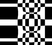 Op Art Digital Art Posters - Black and White Geometric Abstract Art No.277. Poster by Drinka Mercep