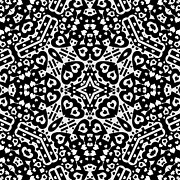 Abstract Hearts Digital Art - Black and White Hearts Kaleidoscope by David G Paul