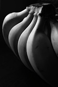 Bunch Framed Prints - Black And White Image Of Banana Framed Print by By Ale_flamy