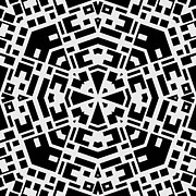 Black And White Kaleidoscope Print by David G Paul