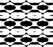Op Art Digital Art Posters - Black and White Op Art Abstract No.321. Poster by Drinka Mercep