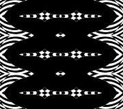 Op Art Digital Art Posters - Black and White Pattern Op Art No.296. Poster by Drinka Mercep