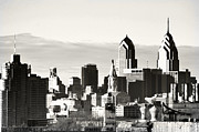 Philadelphia Digital Art Prints - Black and White Philadelphia Print by Bill Cannon