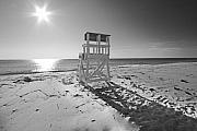Black And White Photography Metal Prints - Black and White Photography The Beach Metal Print by Dapixara Art