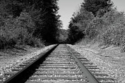 Box Print Originals - Black and White Railroad by Michael Waters