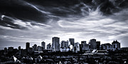 Ian Macdonald Metal Prints - Black and White Skyline Metal Print by Ian MacDonald