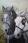 Team Pastels - Black and White by Stephanie L Carr