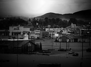 Beckley Wv Photographer Posters - Black and White Town Poster by Lj Lambert