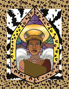 Black Angel Print by Brenda Dulan Moore