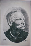 Outlaw Drawings - Black Bart by Lewis Foreman