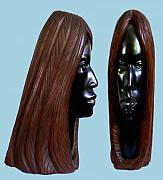Wood Carving Sculpture Framed Prints - Black Beauty Framed Print by Jorge Gomez Manzano