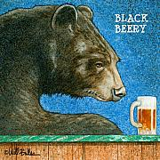 Beer Painting Acrylic Prints - Black beery... Acrylic Print by Will Bullas