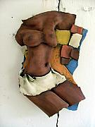 Ceramic Reliefs - Black body by Innes Olshansky
