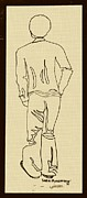 70s Drawings - Black Boy Standing on Table by Sheri Parris