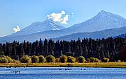 Three Sisters Prints - Black Butte Ranch Lake Print by John Melton