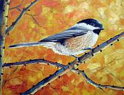 Chickadee Art - Black-Capped Chickadee by David G Paul