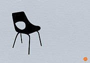 Mid Century Design Digital Art Posters - Black Chair Poster by Irina  March