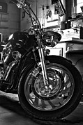 V Twin Prints - Black Chrome Print by Peter Chilelli