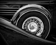 Car Detail Prints - Black Classic 2 Print by Perry Webster