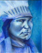 Native Art Paintings - Black Coal by Robert Martinez