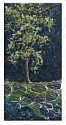 Winter Trees Tapestries - Textiles - Black Cottonwood by Lorraine Roy