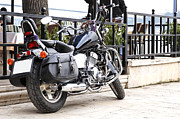 Two Wheeler Photo Prints - Black Cruiser Istanbul Print by Kantilal Patel