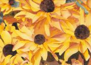 Florals Paintings - Black Eyed Susans by Ken Powers