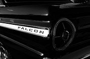 1963 Ford Art - Black Falcon by David Lee Thompson