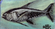 Outsider Art Mixed Media - Black Fin Tuna by Robert Wolverton Jr