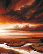 Www.landscape.com Paintings - Black Fire by James Christopher Hill