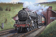 Nostalgia Paintings - Black Five. by Mike  Jeffries