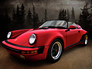German Metal Prints - Black Forest - Red Speedster Metal Print by Douglas Pittman