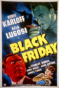 Horror Movies Framed Prints - Black Friday, Bela Lugosi, Anne Nagel Framed Print by Everett