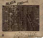 Black Commerce Framed Prints - Black Friday Gold Prices, 1869 Framed Print by Library Of Congress