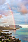 Hawaii Photos - Black Friday Rainbow by Dan McManus