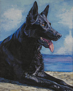 German Shepard Dog Prints - Black German Shepherd Print by Lee Ann Shepard