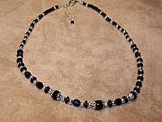 Czech Jewelry - Black Glass necklace by Wendy Smith