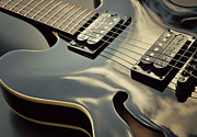 Electric Guitar Prints - Black Guitar Print by Photo - Lyn Randle