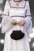 Wedding Dress Photos - Black Handbag by Joana Kruse