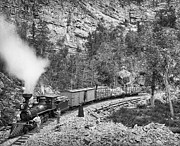 Caboose Prints - BLACK HILLS and FORT PIERRE RAILROAD c. 1890 Print by Daniel Hagerman