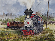Train Paintings - Black Hills Central Number 7 by Sam Sidders