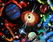 Science Fiction Mixed Media Originals - Black Hole by Amy LeVine