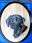 Pet Portraits Pyrography - Black Lab by John Tatham