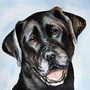 Lab Originals - Black Lab Smile by Cherilynn Wood