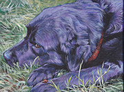 Black Lab Prints - Black Labrador Retriever Print by Lee Ann Shepard