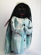 Doll Sculptures - Black madonna - Sorrow by Joyce Morrow-Jones