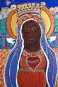 Black Madonna Paintings - Black Madonna by Kareen Fellows