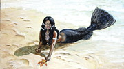 Maria Elena Gonzalez - Black mermaid saving...
