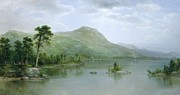 Harbour Metal Prints - Black Mountain from the Harbor Islands - Lake George Metal Print by Asher Brown Durand